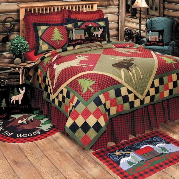 Lodge Patchwork Rustic Cotton Quilt (Shams Not Included). Opens flyout.