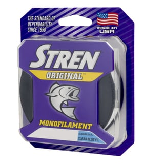 Stren Original Clear Blue Fluorescent Monofilament 330-yard 6-pound Breaking Strength Fishing Line Spool