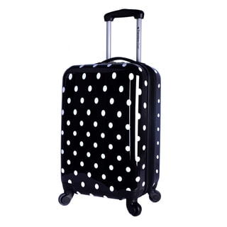 Travelers Club Polka-dot 20-inch Expandable Hardside Spinner Carry-on Suitcase