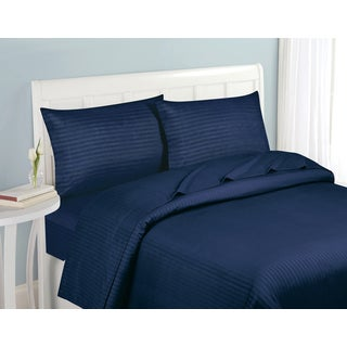 Fashion Street Striped 4 Piece Sheet Set