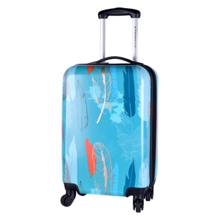 Travelers Club Teal Feather 20-inch Expandable Hardside Spinner Carry-on Suitcase