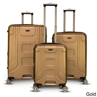Gabbiano Provence Polycarbonate 3-piece Champagne Expandable Hardside Spinner Set