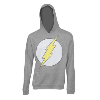 'The Flash' Classic Logo Grey Polyester Hooded Sweatshirt