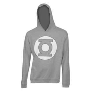 Green Lantern Grey Logo Hooded Sweatshirt
