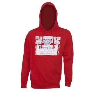 Budweiser Classic Label Red Polyester Hoodie Sweatshirt