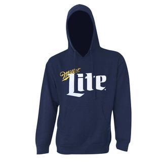 Miller Lite Classic Logo Navy Blue Polyester Blend Hoodie