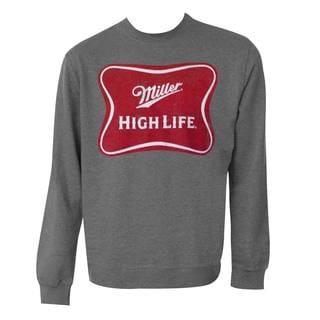 Miller High Life Logo Grey Crewneck Sweatshirt