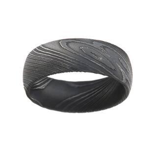 8MM Damascus Steel Ring For Men