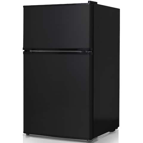 Keystone Energy Star Black 3.1 Cubic Foot Compact 2-Door Refrigerator/ Freezer