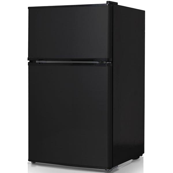 Keystone Energy Star Black 3.1 Cubic Foot Compact 2-Door Refrigerator/ Freezer