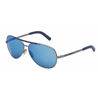 Dolce & Gabbana Mens DG2141 LIFESTYLE 04/55 Gunmetal Metal Cateye Sunglasses