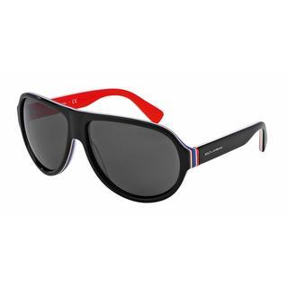 Dolce & Gabbana Mens DG4204 MULTICOLOR 276487 Black Plastic Cateye Sunglasses