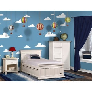 Evolur Napoli Twin Bed And Bed Rail