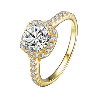 Collette Z Gold Overlay Cubic Zirconia Classic Ring Size 6