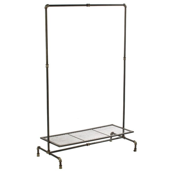 Industrial Metal Garment Display and Storage Rack