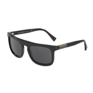 Dolce & Gabbana Mens DG4288F 501/87 Black Plastic Square Sunglasses