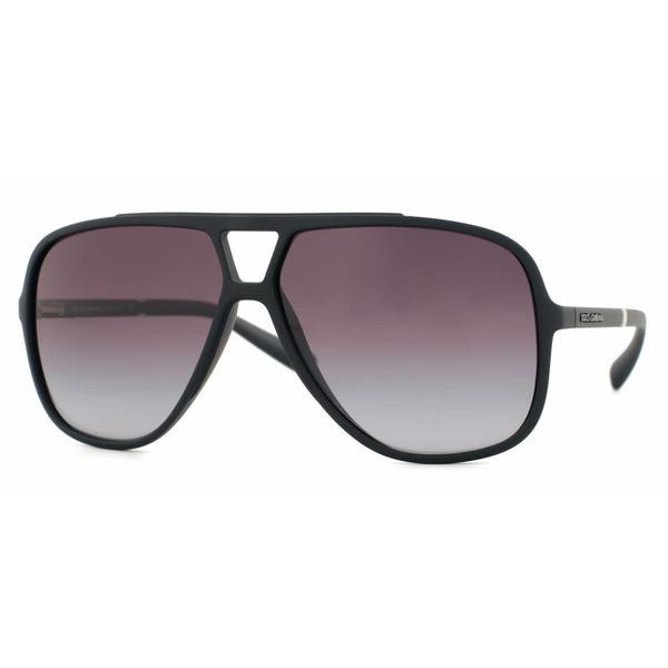 4e5caf946399 Dolce  amp  Gabbana Mens DG6081 LIFESTYLE 26168G Black Plastic Square  Sunglasses - Grey