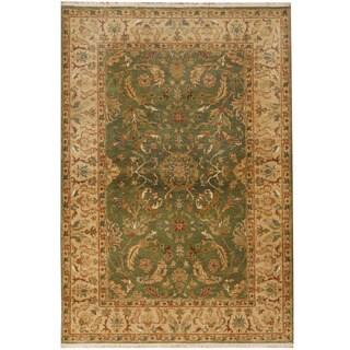 Herat Oriental Indo Hand-knotted Tabriz Wool Rug (4' x 6')