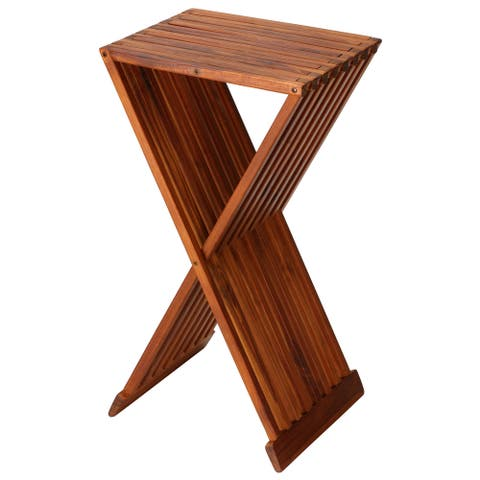 Bare Decor Taj Teak Folding End Table
