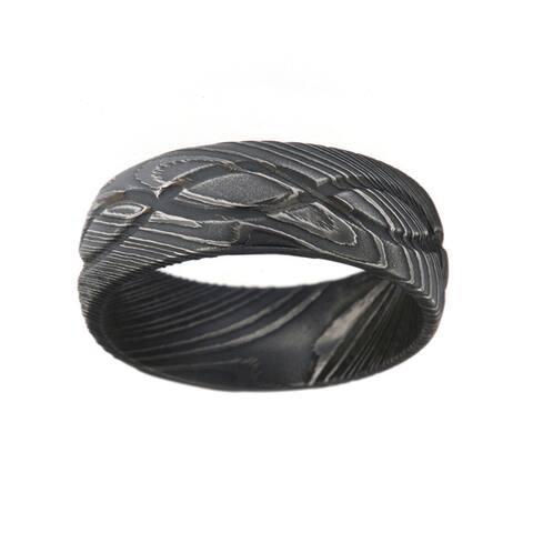 Men's Damascus Steel 8-millimeter Ring