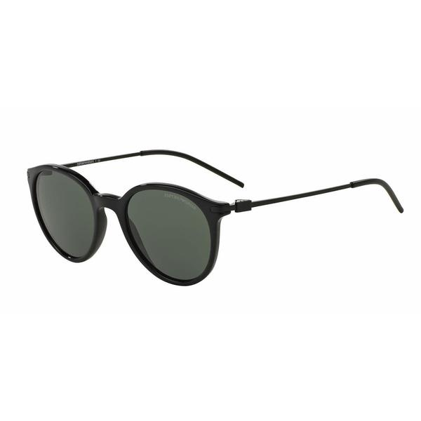 52dd154413 Shop Emporio Armani Mens EA4050F 501771 Black Plastic Phantos Sunglasses -  Grey - Free Shipping Today - Overstock.com - 13466949