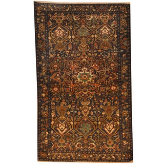 Herat Oriental 1960's Semi-Antique Afghan Hand-knotted Tribal Balouchi Wool Rug (3'9 x 6'2)
