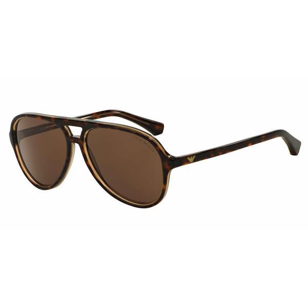 234fd4fd623f Shop Emporio Armani Mens EA4063 546573 Havana Plastic Cateye Sunglasses -  Brown - Free Shipping Today - Overstock - 13466962