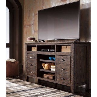 Signature Design by Ashley Trudell Dark Brown TV Stand