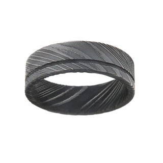 Damascus Steel 8-millimeter Men's Ring