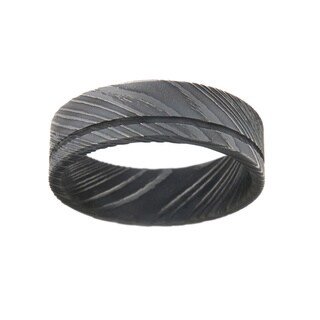 Damascus Steel 8-millimeter Men's Ring