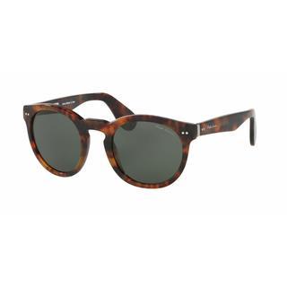 Ralph Lauren Mens RL8146P 501752 Havana Plastic Phantos Sunglasses - Green