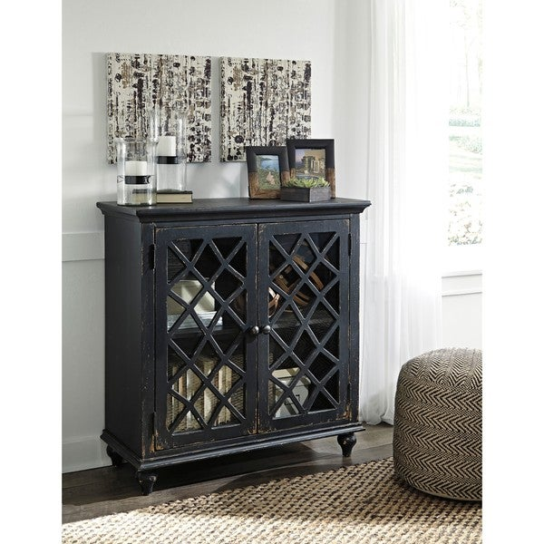 Walentin Accent Cabinet By Ashley Furniture: Shop Mirimyn Antique Black Accent Cabinet