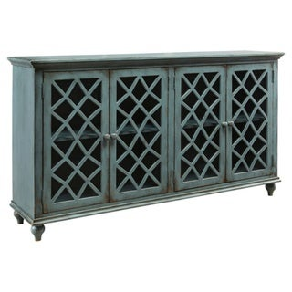 Signature Design by Ashley Mirimyn Antique Teal Accent Cabinet Credenza