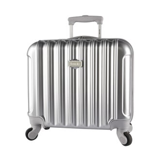 Kensie 16-inch Metallic Hardside Laptop Spinner Briefcase