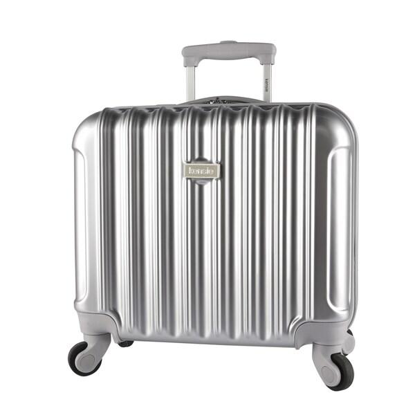 Kensie 16-inch Metallic Hardside Laptop Spinner Briefcase