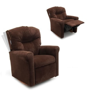 Dozydotes Kids Contemporary Chocolate Micro Suede Rocker Recliner