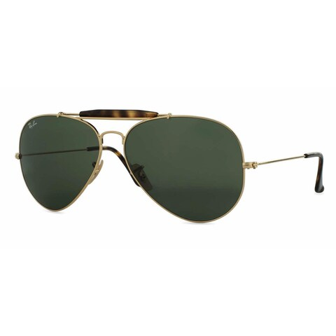 Ray Ban Mens RB3029 OUTDOORSMens II 181 Gold Metal Cateye Sunglasses