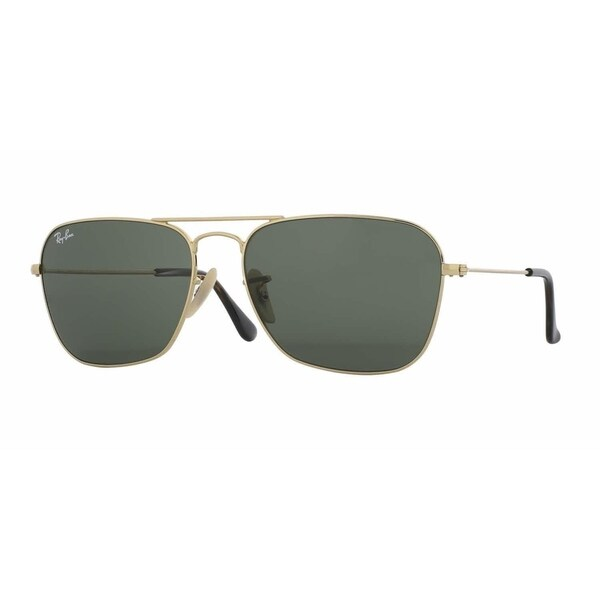 629623b8713758 Ray-Ban Caravan RB3136 181 Unisex Gold Frame Green Classic Lens Sunglasses