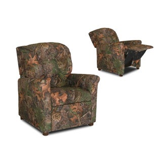 Dozydotes Kids 4 Button Camoflauge Real Tree Mix Pine Recliner