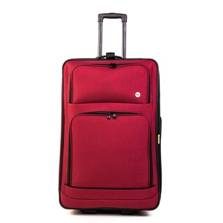 Bags Stonebridge Black and Red Polyester 26-inch Expandable Rolling Upright Suitcase (Option: Red)