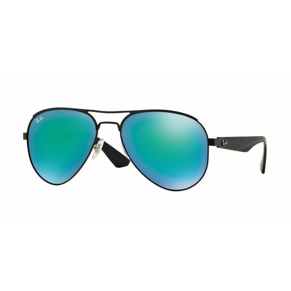 75ab9ab88df Shop Ray Ban Mens RB3523 006 3R Black Metal Cateye Sunglasses ...