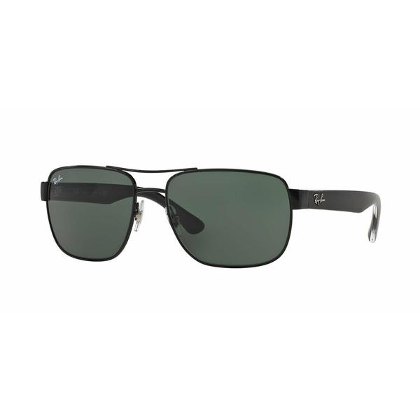 f78762f70ec Shop Ray Ban Mens RB3530 002 71 Black Metal Square Sunglasses - Grey - Free  Shipping Today - Overstock.com - 13467521