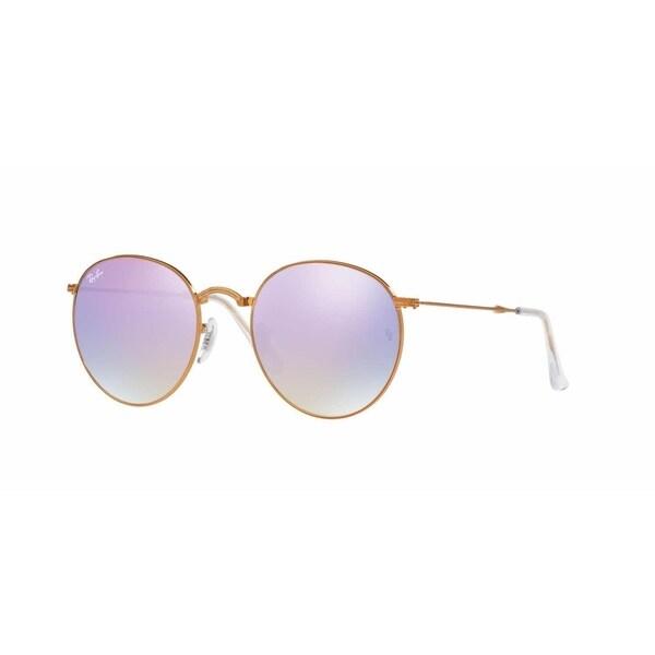 139cab4b0c Shop Ray Ban Mens RB3532 198 7X Bronze Copper Metal Round Sunglasses ...