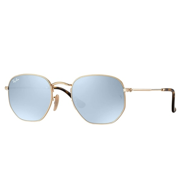 abcb583d741f9 Ray-Ban RB3548N Hexagonal Flat Lenses Sunglasses Gold  Silver Flash 51mm -  Gold