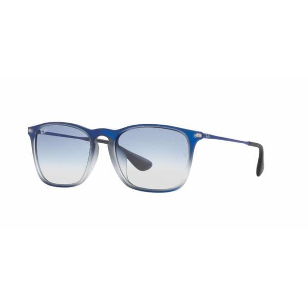 3dcdd2c665 Shop Ray Ban Mens RB4187F CHRIS (F) 622519 Blue Plastic Square Sunglasses -  Free Shipping Today - Overstock.com - 13467594