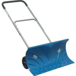 Two Wheel Adjustable Height Snow Plow Pusher