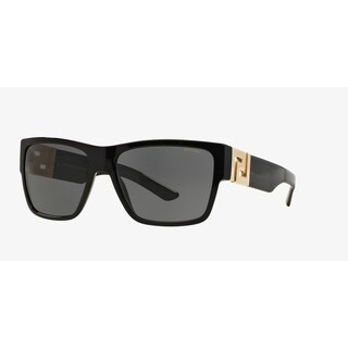 Versace Mens VE4296 GB1/81 Black Plastic Square Sunglasses