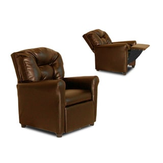 Dozydotes Kids 4 Button Pecan Leather Like Recliner