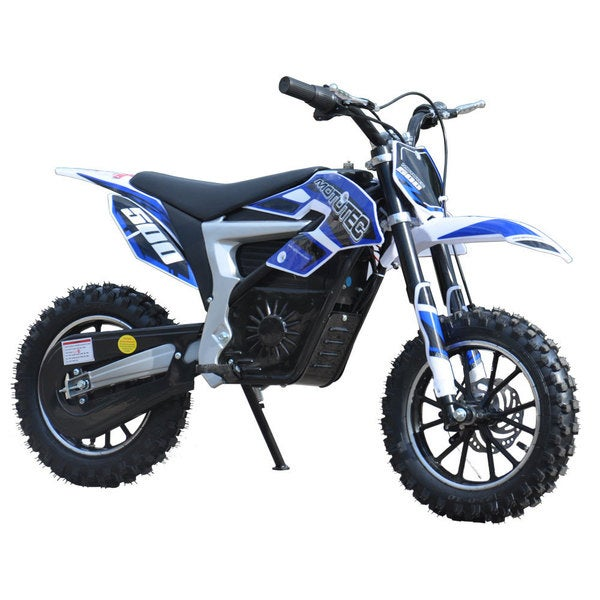 MotoTec Blue 36v Electric 500w Lithium Dirt Bike