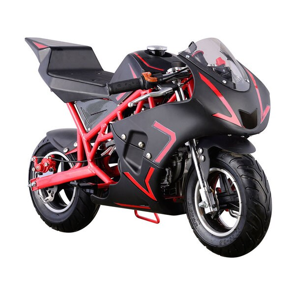 MotoTec Red Cali 40cc Gas Pocket Bike